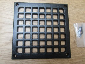 "5"" Square Grille Cover Black Antique"