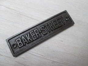 Cast Iron Baker Street Plaque