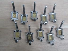 Brass Insert 1-10 Numbered Coat Hooks Chrome