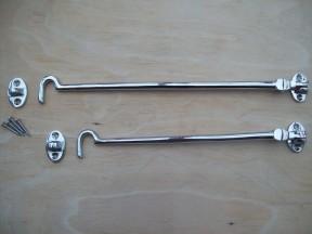 Chrome cabin hooks