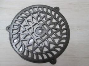 """8"""" Circle Round Cover Antique Iron"""