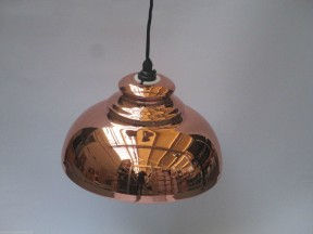 "11"" Pendant Shade with fittings Copper effect"