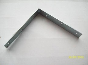 "Pack Of 50 6"" Corner Brace Silver Zinc"