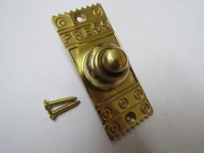 Decorative Bell Push Polished Brass