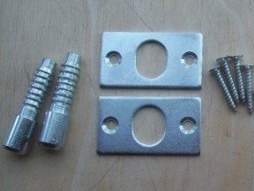 Pair Of Security Hinge Dog Bolts Zinc