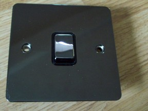 Black Nickel Switch Plate 20A Double Pole Switch