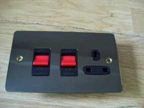Black Nickel Switch Plate DP Cooker Control Unit