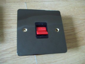 Black Nickel Switch Plate DP Cooker Switch