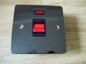 Black Nickel Switch Plate DP Neon Cooker Switch