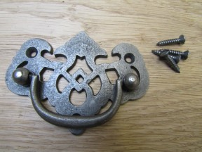 Lattice Cabinet Swing Handle Antique Iron