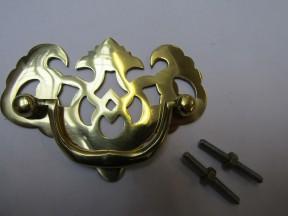Lattice Cabinet Swing Handle Polished Brass