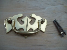 Eagle Cabinet Swing Handle Polished Brass