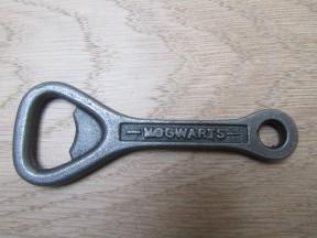 Cast Iron Flat Hogwarts Bottle Opener