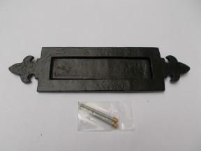 Fleur De Lys Letter Plate Black Antique