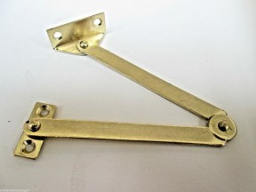 Steel Folding Friction Stay Hinge Polished Brass