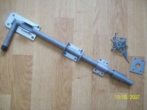 "18"" galvanised cane bolts"