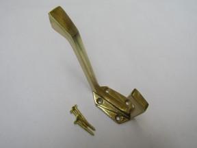 Pack Of 5 Geometric Coat Hooks Brass