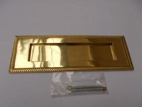 "11"" Georgian Letter Plate Polished Brass"