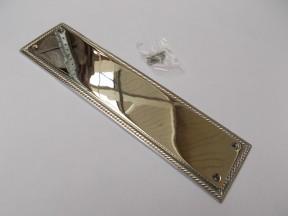 Plain Georgian Polished Chrome Finger Plate
