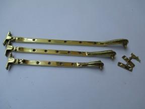 "Georgian Casement stay Arm 12"" Polished Brass"