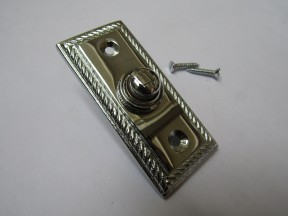 Georgian Bell Push Polished Chrome