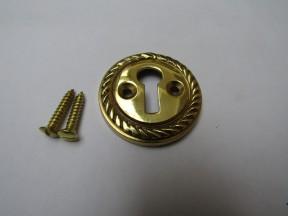Georgian Open Escutcheon Polished Brass