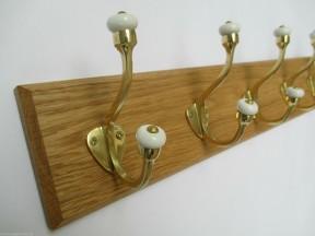 Polished Brass Gloucester 5 Hook Coat Rail 58cm