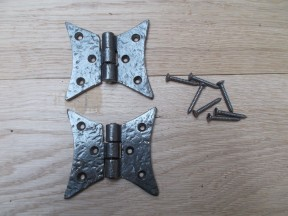 Cast Iron Gothic Cabinet Butt Hinges antique iron