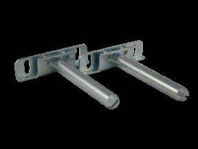 Pair of Concealed floating shelf bracket 92mm Zinc