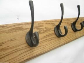 Antique Iron Industrial 4 Hook Coat Rail 48cm