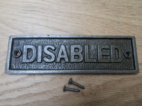Cast Iron Disabled Plaque