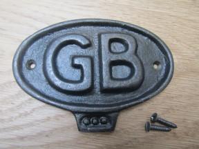 Cast Iron GB Plaque