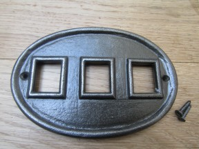 Cast Iron House Number Insert Plaque