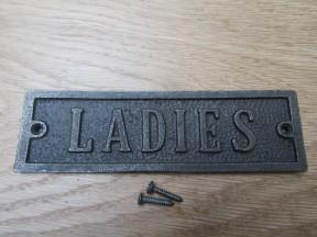Cast Iron Ladies Plaque