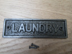 Cast Iron Laundry Plaque