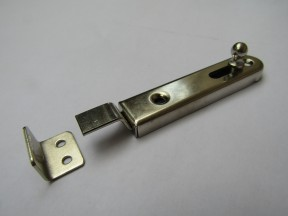 Small Larder Necked Bolt Polished Nickel