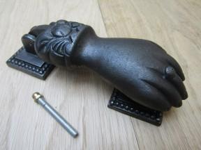 Male Hand Door Knocker Antique Iron