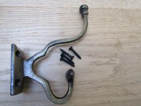 Pack Of 5 Malvern Coat Hooks Antique Brass