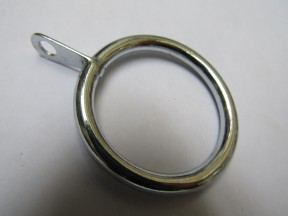 Pack Of 10 Metal Curtain Pole Rings Chrome