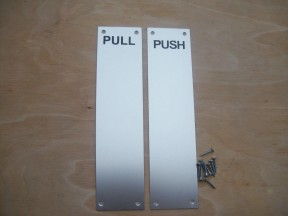 Aluminium push and pull plates