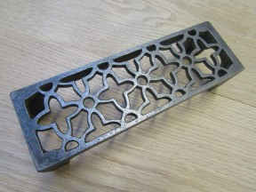 Floral Metric Air Brick Antique Iron