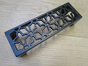 Floral Metric Air Brick Black Antique