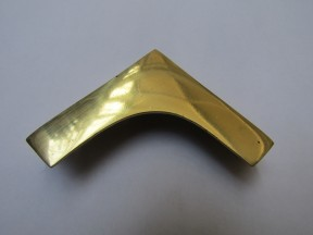 Pack Of 2 Military Chest Corner Polished Brass