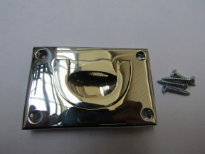 "3"" Small Campaign Chest Handle Polished Chrome"