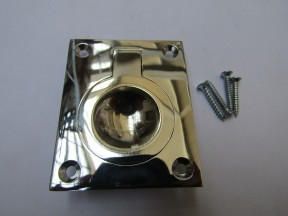 Large Rectangular Ring Pull Polished Chrome