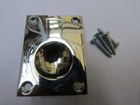 Small Rectangular Ring Pull Polished Chrome