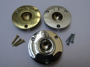 50mm Round Large Ring Pull Polished Brass