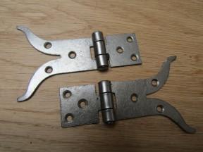 Pair Of Moustache Cabinet Hinges Antique iron
