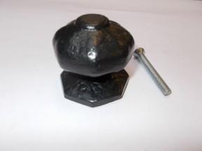 Octagonal Centre Door Knob Antique Iron