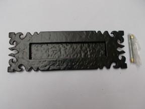 Ornate Gothic Letter Plate Black Antique